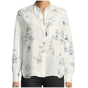 Vince Floral Silk Blouse
